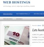 Web hostings, mājas lapu darbības nodrošināšana 24/7